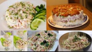 10 салатов с ветчиной