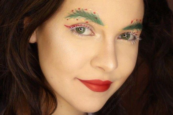 Украшаем брови: новогодний бьюти-тренд покоряет мир