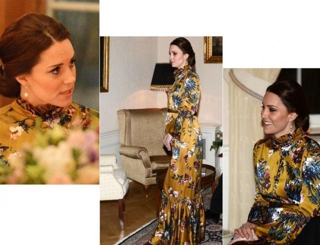 Беременная Кейт Миддлтон в горчичном платье восхитила образом (ФОТО)
