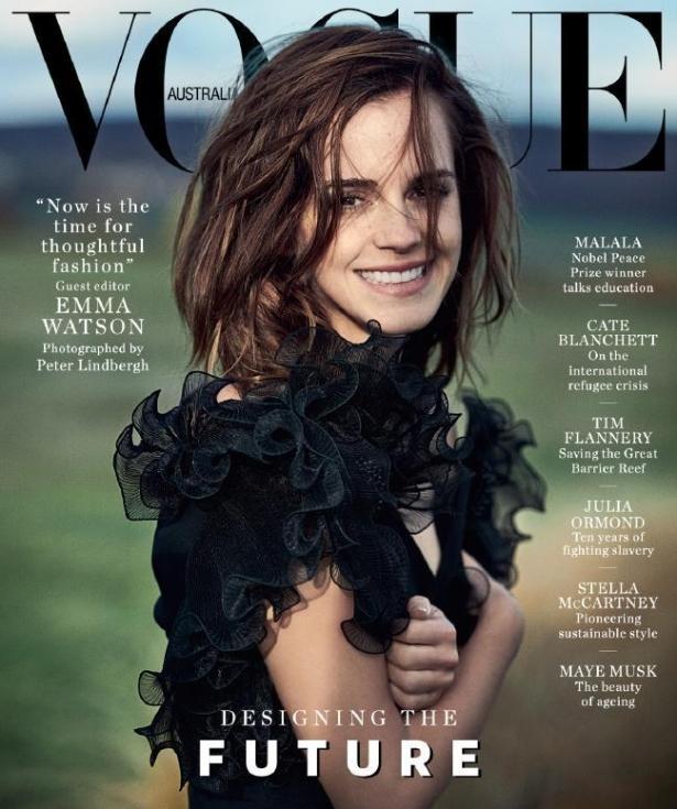 Эмма Уотсон в разных образах стала лицом целого выпуска австралийского Vogue (ФОТО)