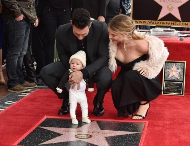 Адам Левин и Бехати Принслу стали родителями во второй раз: пол и имя ребенка