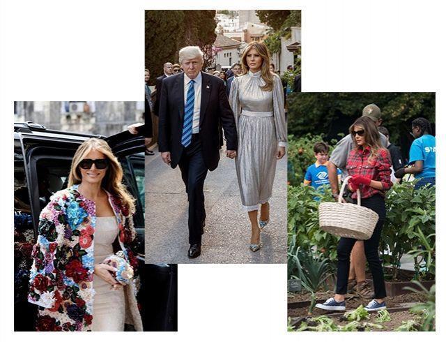Как выглядели самые дорогие образы Мелании Трамп: разбор гардероба первой леди