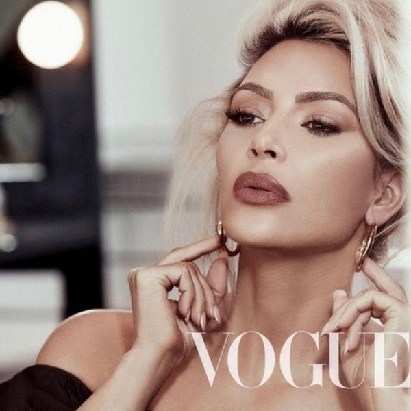 Не узнать: сдержанная и элегантная Ким Кардашьян в шестой раз появилась на обложке Vogue