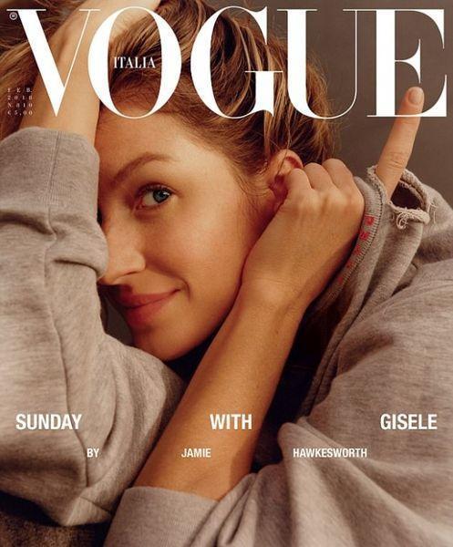 Впервые в истории итальянского глянца: Жизель Бюндхен снялась для обложки Vogue без макияжа (ФОТО)