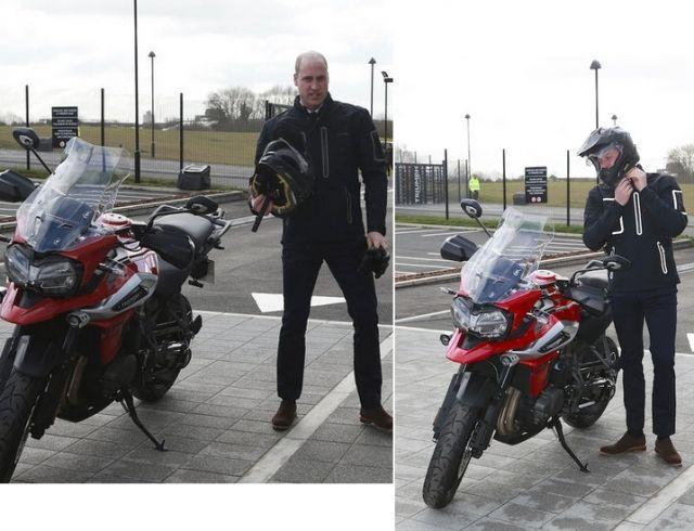 Дерзкий принц Уильям на мотоцикле стал звездой Сети! (ФОТО)