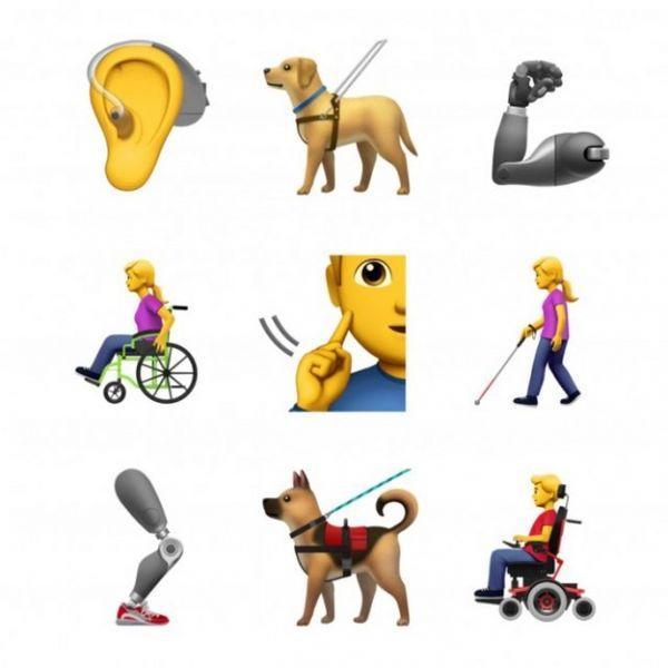 Apple выпустит Emoji для людей с инвалидностью