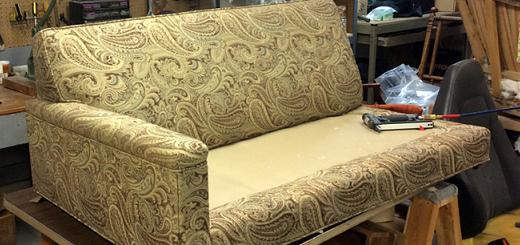 Ремонт пружины дивана