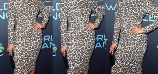 Образ дня: Дженнифер Лопес в эффектном леопардовом платье (ГОЛОСОВАНИЕ)