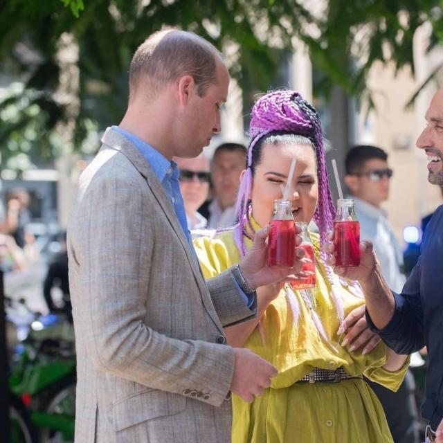 Принц Уильям отлично провел время с Неттой Барзилай (ФОТО)