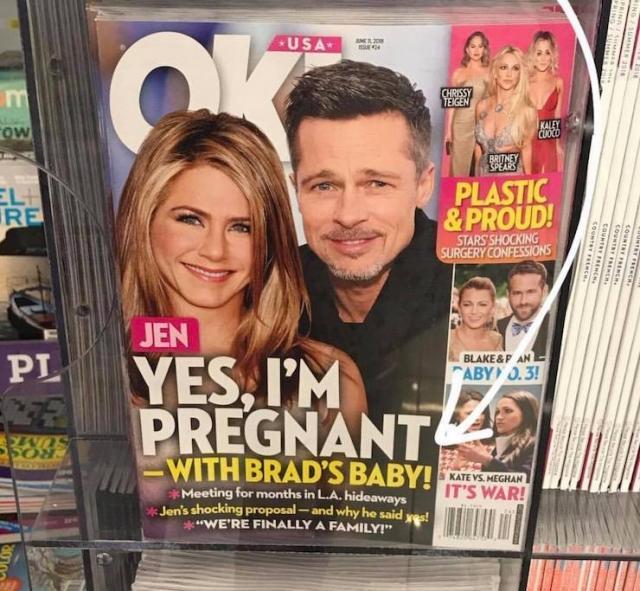 Правда или утка? СМИ пишут о беременности Дженнифер Энистон от Брэда Питта