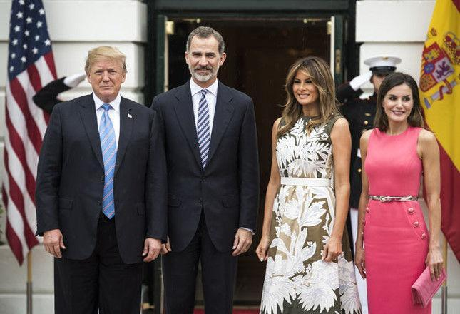 Королева Испании встретилась с Меланией Трамп в платье, которое та уже носила