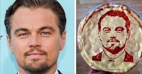 Съешь меня! Повар рисует портреты знаменитостей на пиццах