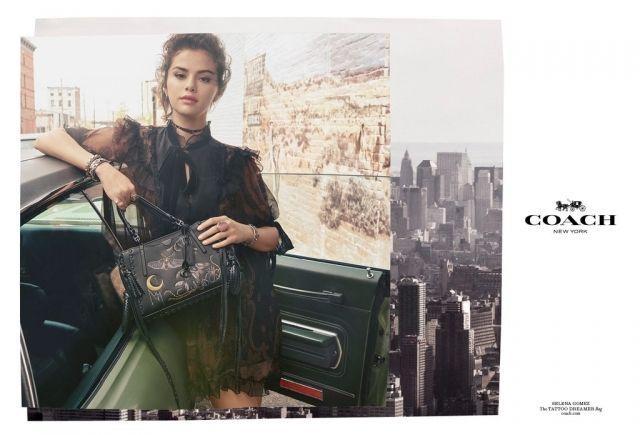 Селена Гомес стала лицом новой рекламной кампании Coach (ФОТО)