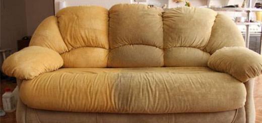 Чем почистить диван из ткани от засаленности?