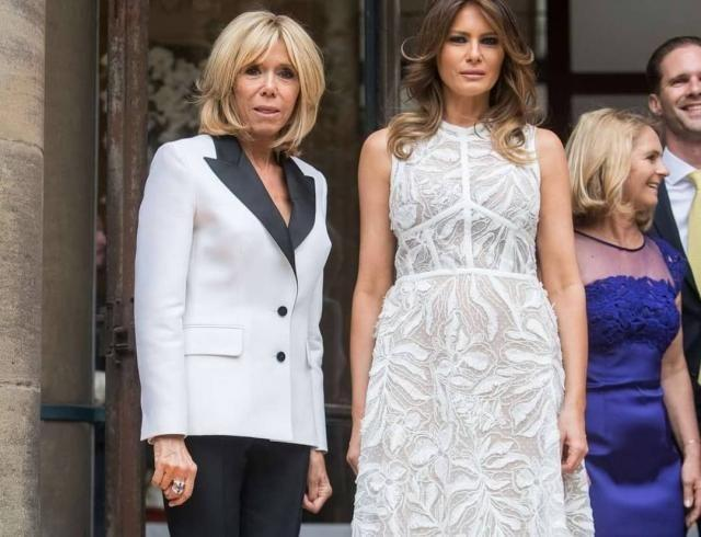 Выбор первых леди: Мелания Трамп и Бриджит Макрон на ужине в Брюсселе (ГОЛОСОВАНИЕ)