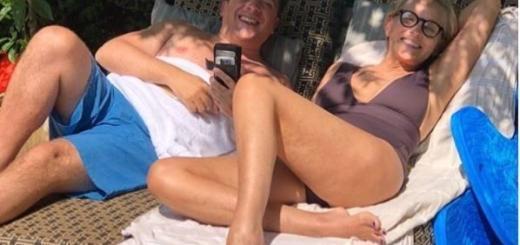 Устала быть секси: Шэрон Стоун как бабушка на пляже