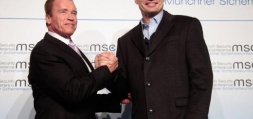 Виталий Кличко пригласил Арнольда Шварценеггера в Украину. И он согласился