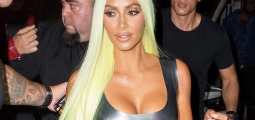 Латексное мини и волосы цвета Lamborghini: Ким Кардашьян в новом образе (ГОЛОСОВАНИЕ)
