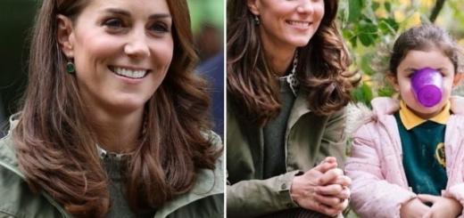 Первый выход Кейт Миддлтон после декрета: герцогиня посетила школу Sayers Croft Forest School