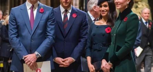 Герцоги Кембриджские и Сассекские посетили службу в Вестминстерском аббатстве (ФОТО+ВИДЕО)
