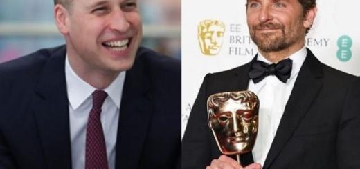 Брэдли Купер пошутил с принцем Уильямом на церемонии награждения BAFTA