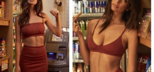 Эмили Ратаковски устроила прогулку по супермаркету в новой коллекции собственного белья (ФОТО)