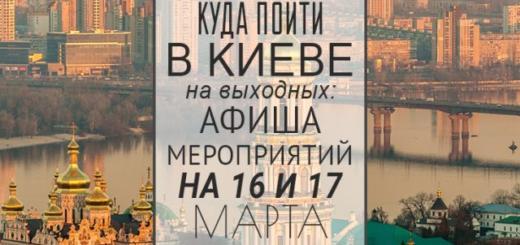 Куда пойти в Киеве на выходных: афиша мероприятий на 16 и 17 марта