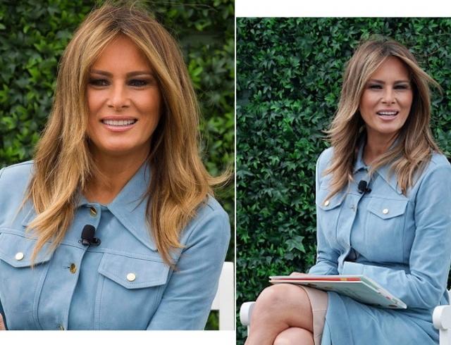 Мелания Трамп принимает комплименты: новый нежный образ первой леди (ФОТО)