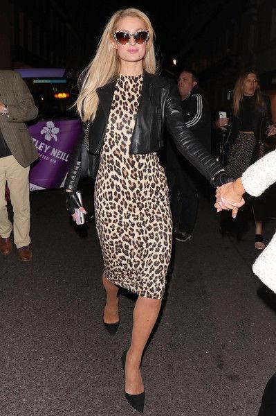 Леопардовый кошмар или тренд? Пэрис Хилтон засветилась в зверином наряде в Лондоне