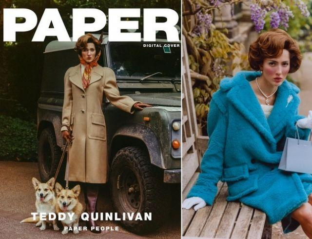 Первая трансгендерная модель Chanel Тедди Куинливан снялась в образе Елизаветы II (ФОТО+ГОЛОСОВАНИЕ)
