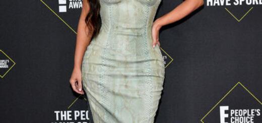 Поправившаяся на 9 кг Кардашьян надела обтягивающее платье