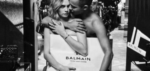 Оливье Рустен и Кара Делевинь снялись в откровенной рекламе Balmain (ФОТО 18+)