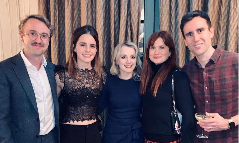 Малфой и компания: актеры из «Гарри Поттера» отмечают вместе Рождество