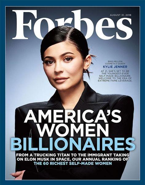 """Forbes лишил Кайли Дженнер звания """"самой молодой миллиардерши в мире"""""""
