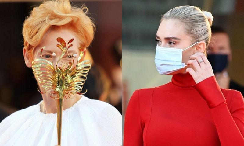 Аризона Мьюз, Тильда Суинтон и другие звезды в масках на Венецианском фестивале