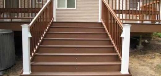 Преимущества лестниц из ДПК